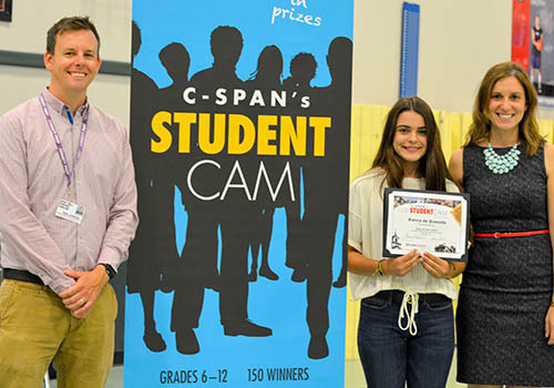 Eighth Grader Wins C-SPAN Contest